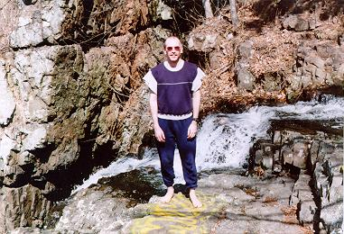 David Ellis at the top of Westfield Falls - 2000