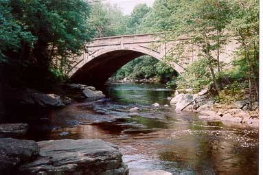 The Route 198 bridge over the Natchaug River.